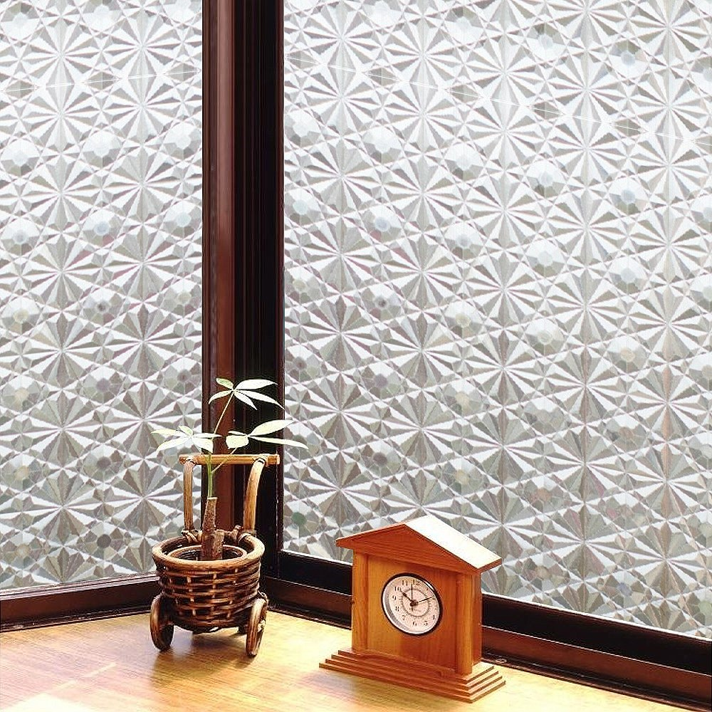 ★促銷★〔日本MEIWA〕抗UV靜電窗貼 (萬花齊放)92x100公分