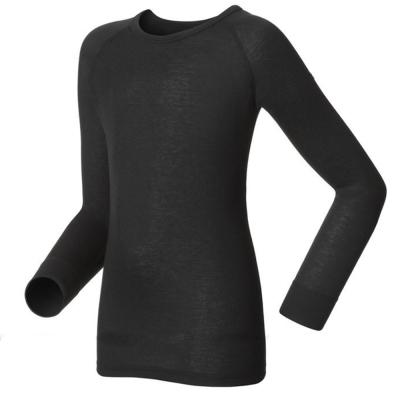 【瑞士 ODLO】effect 兒童.女圓領頂極機能型銀離子保暖內衣/黑