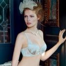 【La Felino】迷人香檳3/4罩剪接款B-E罩杯內衣 (優雅灰)