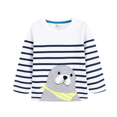 歐美風 男童 純棉長袖T恤-海豹