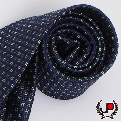 極品西服- 紳士小花藍底絲質領帶(YT0106)