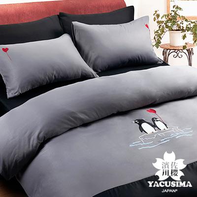 日本濱川佐櫻-心心相戀 加大四件式貼布繡被套床包組