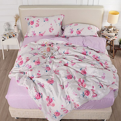 夢工場 思華年歲天絲頂規款兩用被鋪棉床包組-雙人