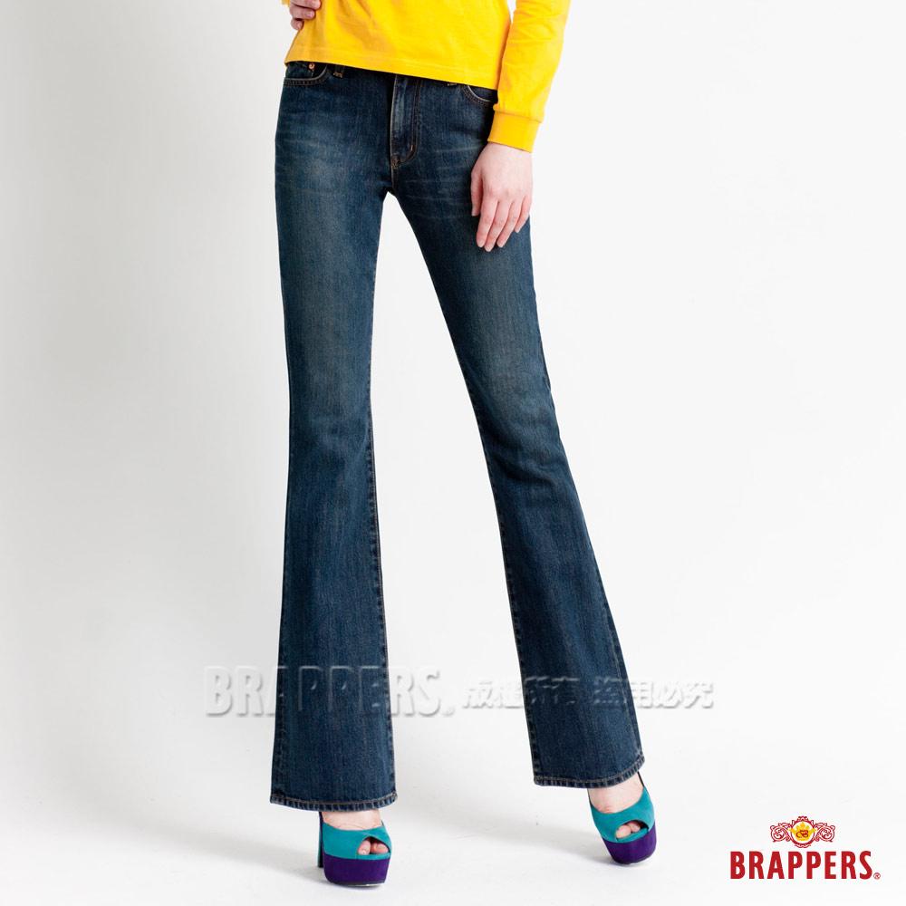 BRAPPERS 女款 女用小喇叭褲-藍