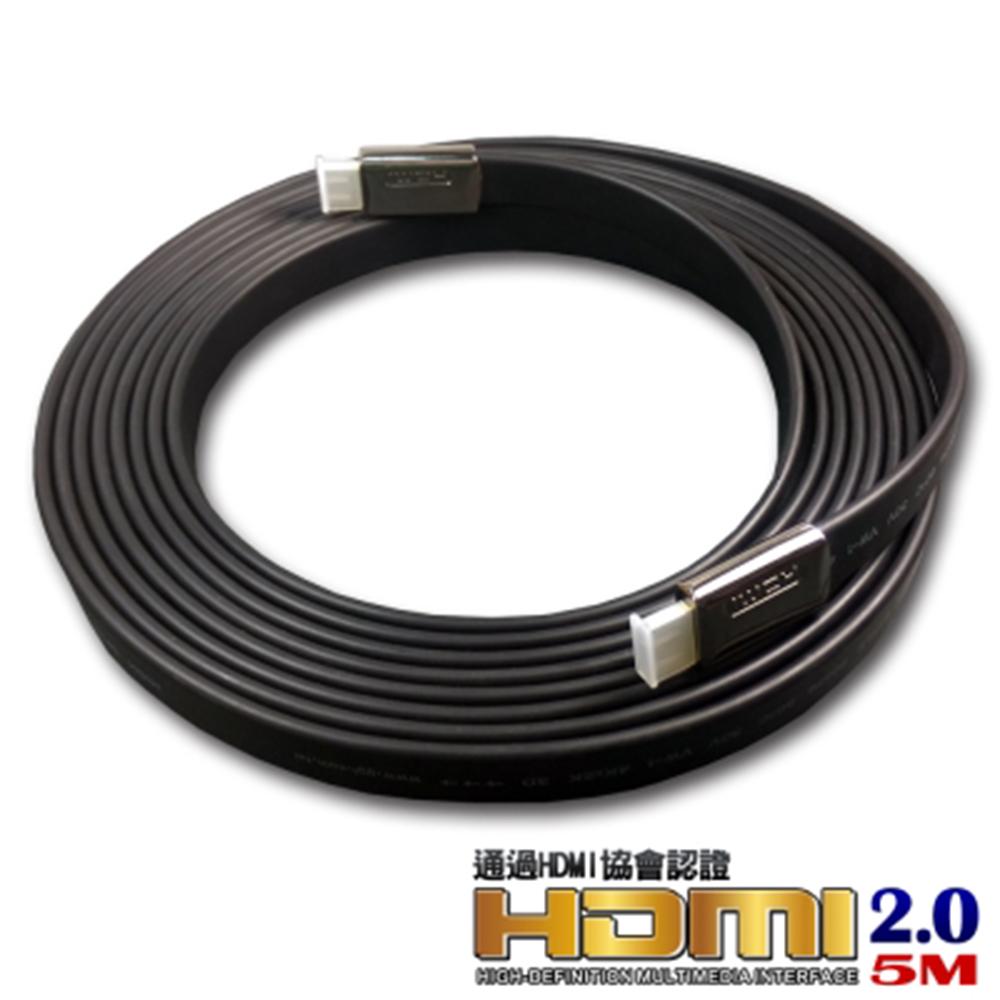 iNeno-HDMI 4K超高畫質扁平傳輸線 2.0版-5M