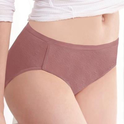 曼黛瑪璉 中腰三角生理內褲M-XL(瑰麗紅)