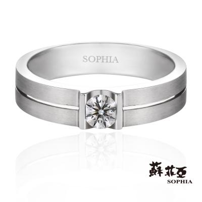 蘇菲亞SOPHIA 鑽石男戒 - 愛情證書0.10克拉八心八箭鑽石男戒