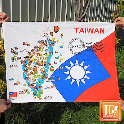 JB DESIGN-台灣文創布地圖-85-台灣藍版