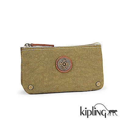 Kipling Edgeland系列 抹茶綠素面零錢包-小
