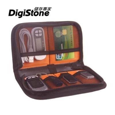 DigiStone 6格裝 3C多功能收納包(適隨身碟/記憶卡/線材/3C產品)-黑色