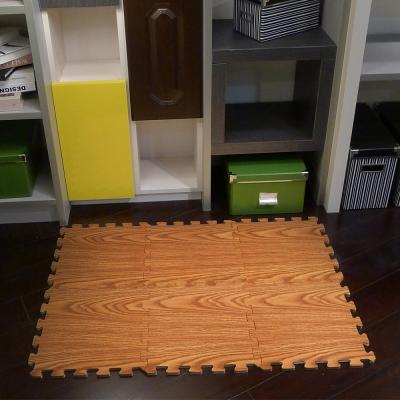 【新生活家】EVA耐磨橡木紋地墊-深色32x32x1cm6入