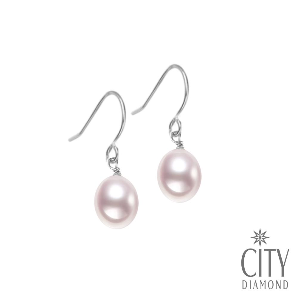 City Diamond引雅 【手作設計系列 】天然珍珠耳環