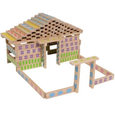 法國Boikido木製玩具-蓋房子100片