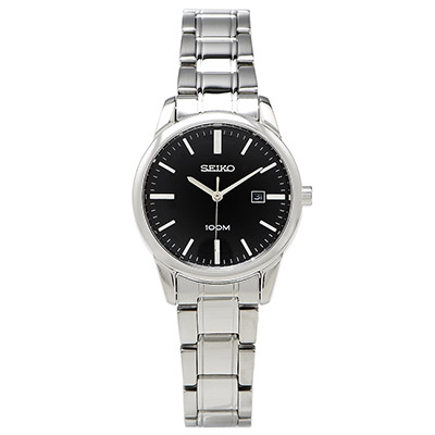 SEIKO 都會簡約風女性手錶 (SXDG27P1)- 黑面x銀色/29mm