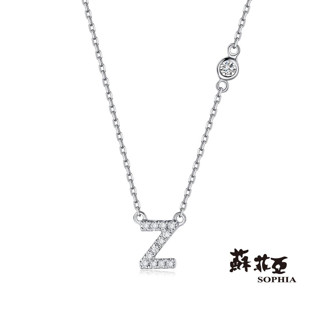 蘇菲亞SOPHIA 鑽鍊-英文字母鍊系列 Z字鑽石項鍊(共2色)