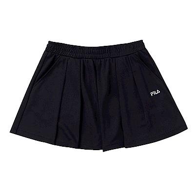 FILA KIDS 女童吸濕排汗短褲-黑 5SHS-4444-BK