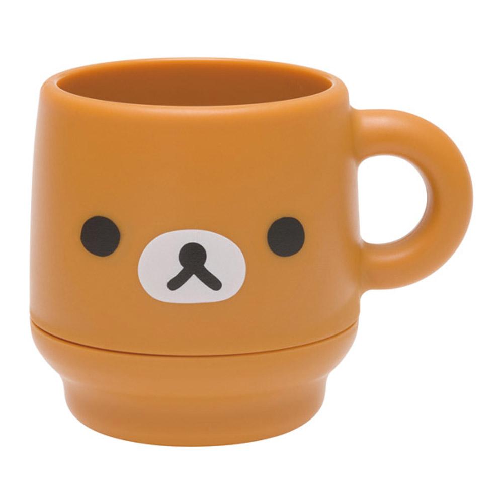 拉拉熊簡單生活系列雙層疊疊水杯。懶熊