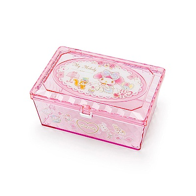 Sanrio 美樂蒂閃耀光澤小物收納盒(浪漫居家)
