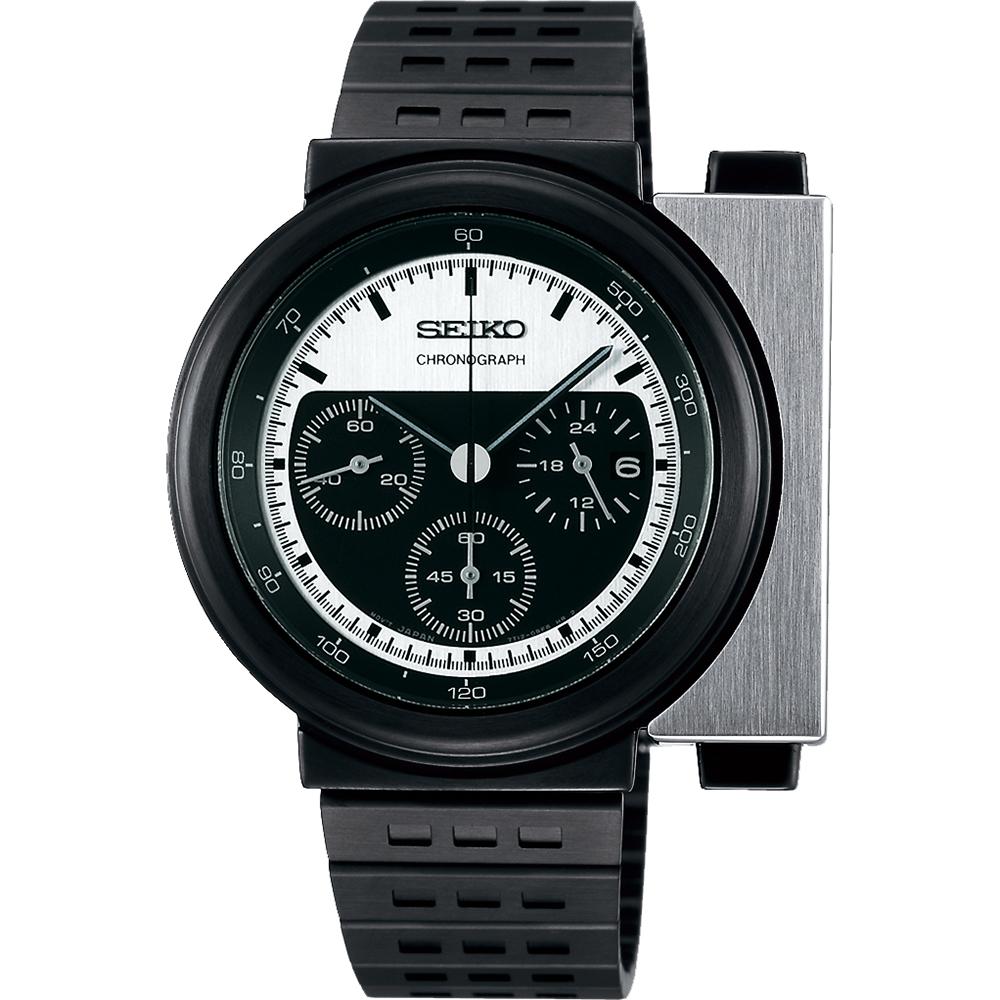 SEIKO X GIUGIARO 限量科幻計時碼錶(SCED041J)-銀x黑/43mm