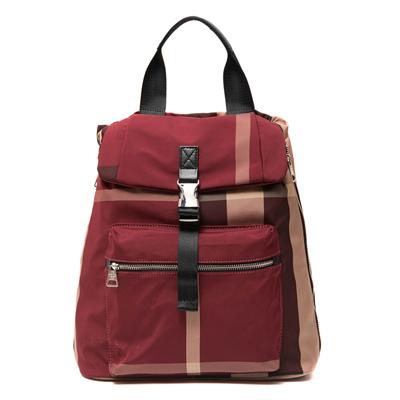 ANGIMI SHOP 後背手提熱銷格紋雙造型包-紅格