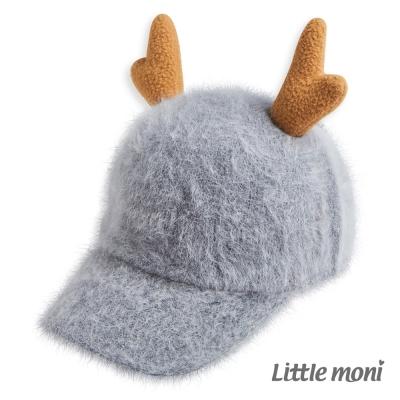 Little-moni-麋鹿棒球帽-麻花灰