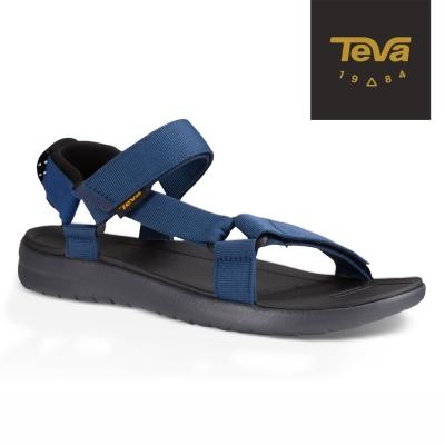 TEVA 美國 男 Sanborn Universal 輕量織帶涼鞋 (藍)