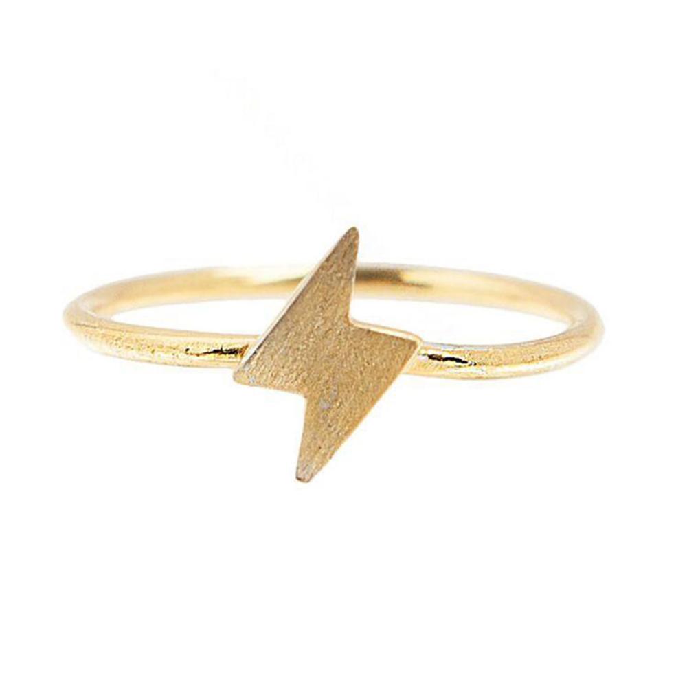 Pura Vida 美國手工 閃電造型 金戒指