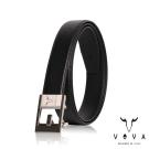 VOVA - 休閒商務紳士鏤空造型自動扣皮帶 - 鎗色