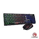 【MARVO】超值組合 KM408 電競鍵盤(中文版)多彩背光 & 滑鼠