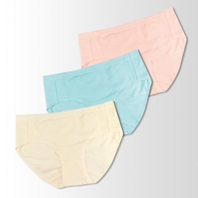 蕾黛絲-伴你一生-精梳棉 棉褲內褲三件包(高腰)M-EQ 黃/藍/橘