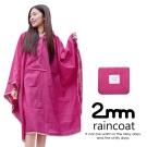 2mm 蝙蝠袖斗篷款。時尚雨衣/風衣(R-W043)_玫紅