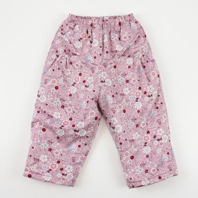 愛的世界 MYBABY 小兔花園舖棉磨毛長褲 4-8歲