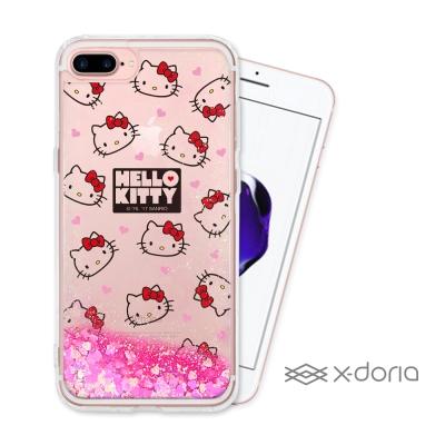 Hello Kitty iPhone 7 plus 亮片流沙手機軟殼 - 經典