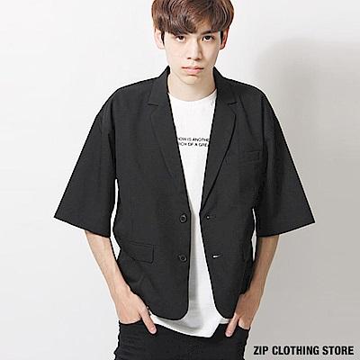 休閒七分袖西裝外套(6色) ZIP日本男裝