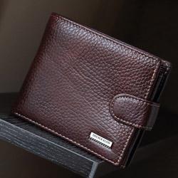 ABS愛貝斯 男用皮夾 短夾 橫式雙層鈔票層 活頁照片收納(棕)7073-005