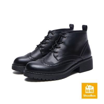 達芙妮DAPHNE-ShoeBox系列-短靴-雕花