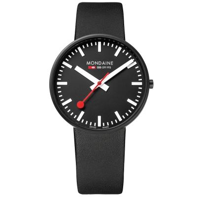MONDAINE 瑞士國鐵Giant大錶面限量腕錶/42mm-黑面