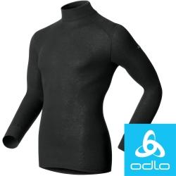 瑞士【Odlo】152012 男銀離子高領保暖衛生衣(黑)