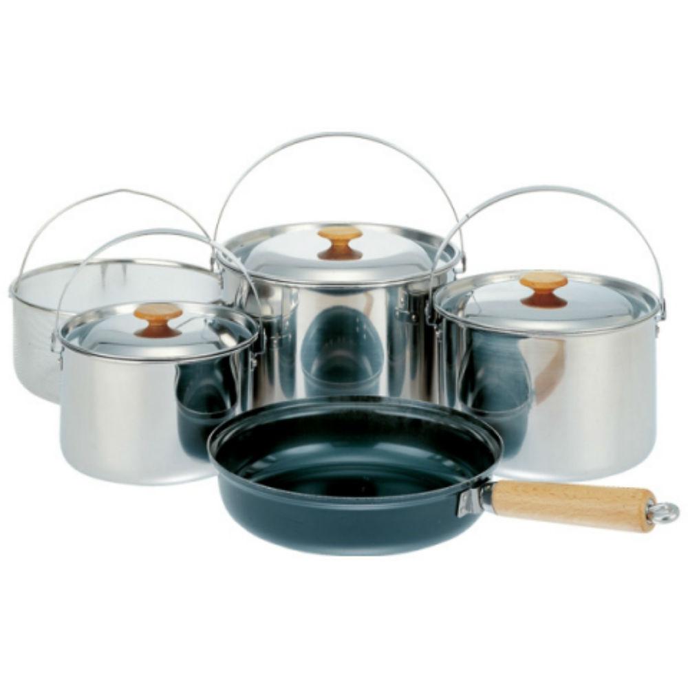SNOW PEAK CS-021 不鏽鋼鍋具組 L 五件組