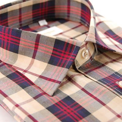 【金安德森】紅色經典大格紋短袖襯衫