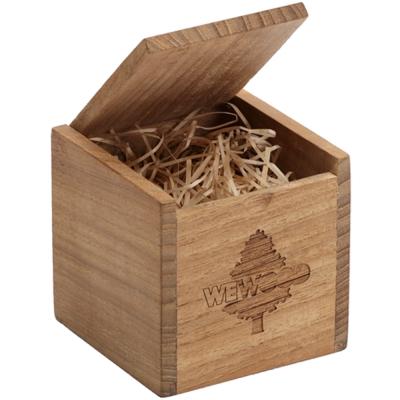 WEWOOD 義大利原廠典藏柚木盒-7x7cm