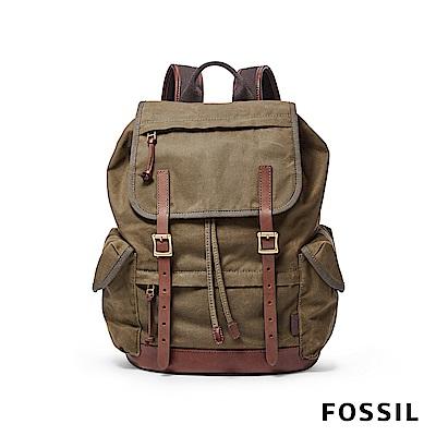 FOSSIL DEFENDER 輕旅行後背包-綠色