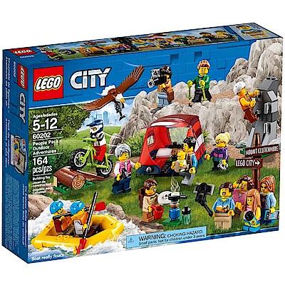 樂高LEGO 城市系列 LT60202 樂高城市系列戶外探險人偶組
