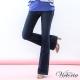 Victoria 中高腰靴型褲-女-深藍 product thumbnail 1