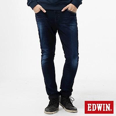 EDWIN 窄直筒 迦績褲CARGO牛仔褲-男-酵洗藍