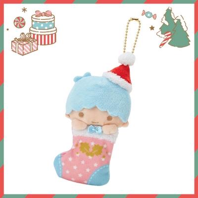 Sanrio SANRIO明星聖誕小鎮系列聖誕襪造型玩偶吊鍊(雙星仙子-KIKI)