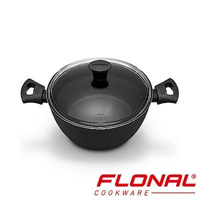 義大利Flonal 鈦空系列可導磁不沾雙耳湯鍋24cm/4.4L
