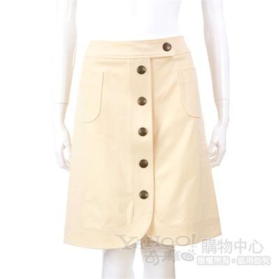 MOSCHINO 米黃色排釦及膝裙