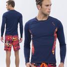 澳洲Sunseeker時尚男士衝浪長袖上衣-扶桑深藍
