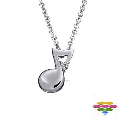 彩糖鑽工坊 14K 八音符 音符鑽石項鍊 幸福樂章 Happiness系列